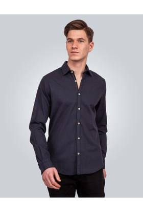 Tudors Denim Lacivert Erkek Gömlek 13410