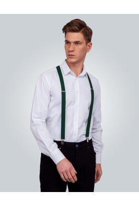 Tudors Düz Yeşil Erkek Pantolon Askısı 11967
