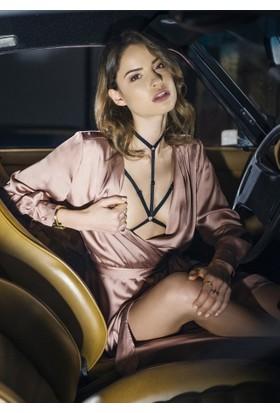 Angels Passion Lastik Göğüs Harness - Seksi İç Giyim