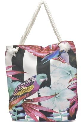 Butigo Drn18Ss020 Çok Renkli Kadın Plaj Çantası
