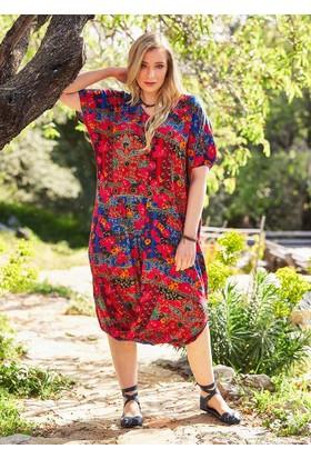Los Banditos Kadın Büyük Beden Elbise