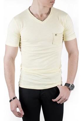 Deepsea Kesik V Yaka Erkek T-Shirt 18203