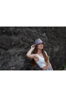Laslusa Fötr Kuşaklı Şapka