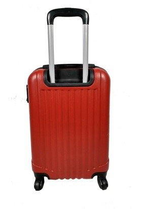 Escape Plastik 4 Teker Kırmızı Kabin Boy Valiz