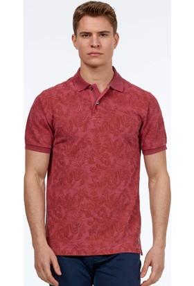 Hemington Erkek Açık Bordo Baskılı Polo Yaka T-Shirt