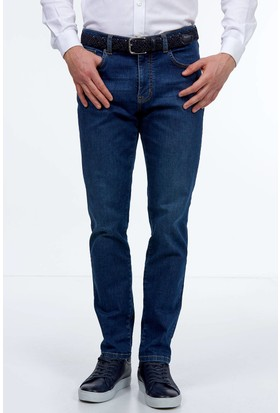 Hemington Erkek Mavi Slim Fit Denim Pantolon