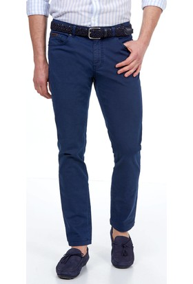 Hemington Erkek Lacivert Slim Fit Kanvas Pantolon