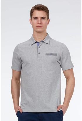 Hemington Erkek Gri Polo Yaka Pamuk T-Shirt