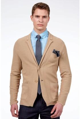 Hemington Erkek Camel Yazlık Triko Ceket
