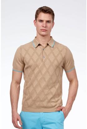 Hemington Erkek Camel Triko Polo T-Shirt