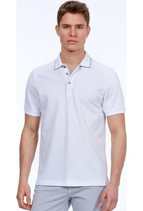 Hemington Erkek Beyaz Polo Yaka Pike T-Shirt