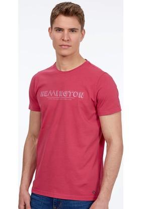 Hemington Erkek Fuşya Bisiklet Yaka T-Shirt