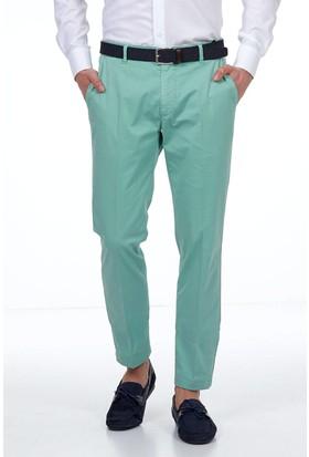 Hemington Erkek Açık Yeşil Yazlık Kanvas Pantolon