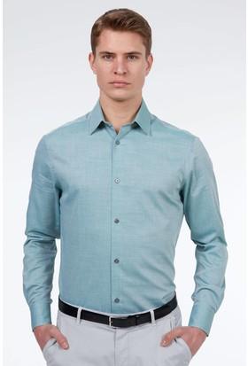 Hemington Erkek Açık Yeşil Dokulu Business Gömlek