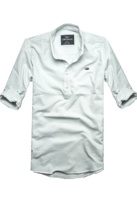 Adirondack Slim Fit Yarım Pat Erkek Gömlek