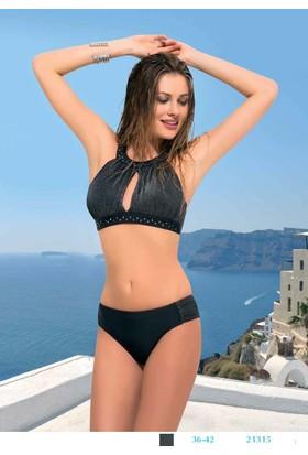 Endeep Mayo Kadın Göğüs Detay Bikini 21315