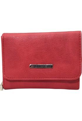 Ollbag 1026 Kırmızı Deri Kadın Cüzdanı