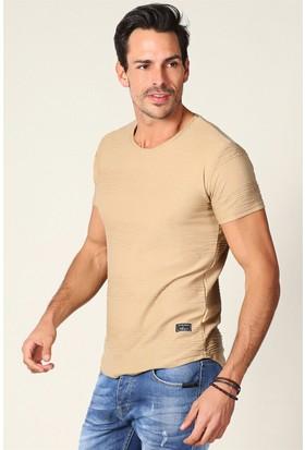 Philip Loren Taba Yuvarlak Etek T-Shirt FG18B2413R02
