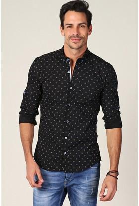 Philip Loren Siyah Desenli Gömlek JP18B07R01