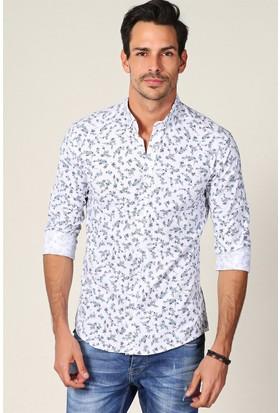 Philip Loren Beyaz Desenli Gömlek JP18B12R01