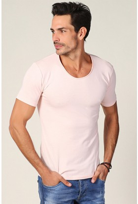 Philip Loren Pudra Havuz Yaka T-Shirt WP18B320R04