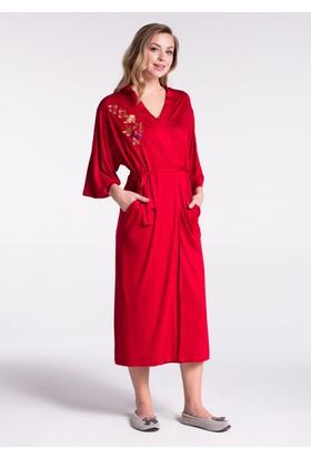 Dagi Kadın Sabahlık Kırmızı
