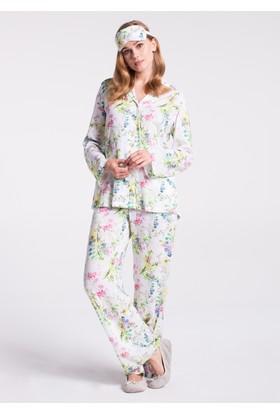 Dagi Kadın Pijama Takımı Ekru - Sarı