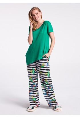 Dagi Kadın Pijama Takımı Yeşil