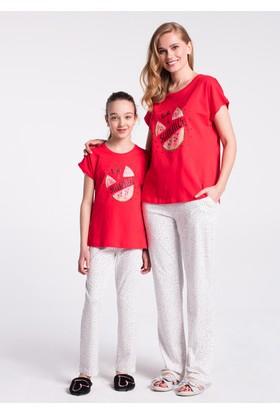 Dagi Kız Çocuk Pijama Takımı Kırmızı