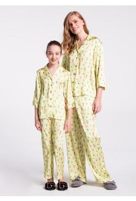 Dagi Kız Çocuk Pijama Takımı Sarı