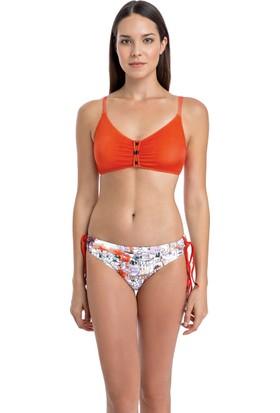 Dagi Kadın Luplu Bikini Takımı Turuncu