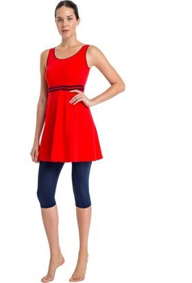Dagi Kadın Elbiseli Mayo Kırmızı