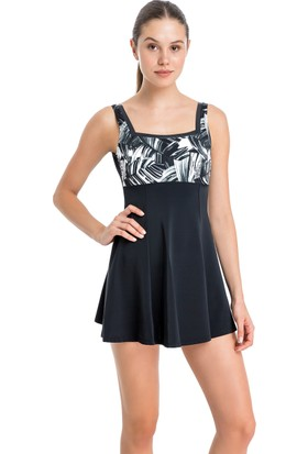 Dagi Kadın Elbiseli Mayo Siyah