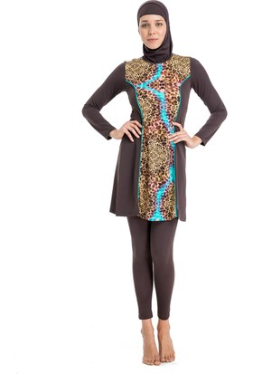 Dagi Kadın Elbiseli Mayo Kahverengi