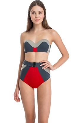 Dagi Kadın Kaplı Bikini Takımı Antrasit