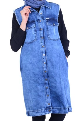 İkoll 16046 Denim Yelek - 18-1B416020