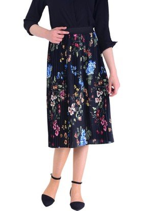 Lustrin 2615 Çiçek Desenli Etek - 18-1B633025
