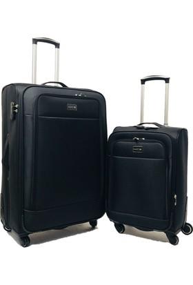 Mçs Lux Kumaş Valiz İkili Set (Kabin Büyük)