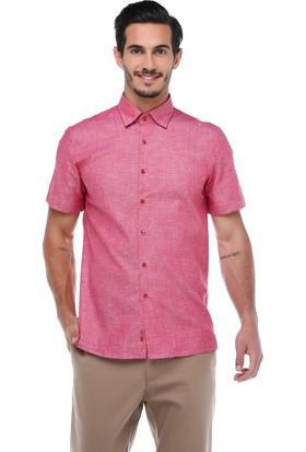 Centone Erkek Kırmızı Dar Kesim Gömlek -17-0206