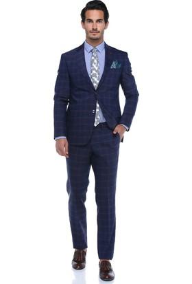 Centone Erkek Mürdüm Dar Kesim Takım Elbise -18-0043
