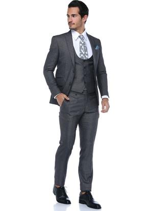 Centone Erkek Antrasit Dar Kesim Takım Elbise -17-0468