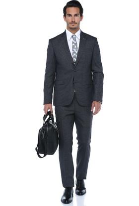 Centone Erkek Antrasit Dar Kesim Yelekli Takım Elbise -17-0363