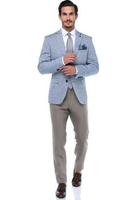 Centone Erkek Bej Klasik Kesim Keten Pantolon -18-0015
