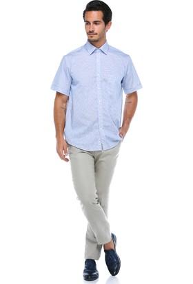Centone Erkek Açık Bej Klasik Kesim Keten Pantolon -18-0015