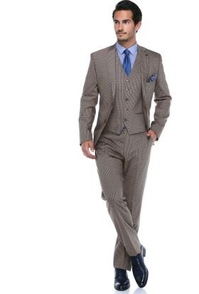 Centone Erkek Açık Bej Rahat Kesim Takım Elbise -18Y-0006