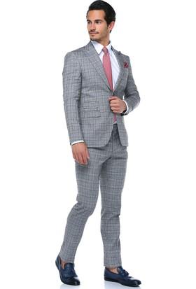 Centone Erkek Bordo Skinny Kesim Takım Elbise -18-0033