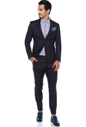 Centone Erkek Bordo Skinny Kesim Takım Elbise -18Y-0002