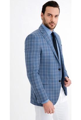 Kiğılı Erkek İtalyan Ekose Ceket