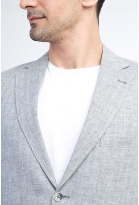 Kiğılı Erkek İtalyan Ekose Keten Ceket