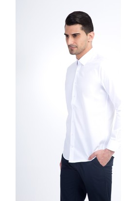 Kiğılı Erkek Uzun Kol Düz Slim Fit Gömlek